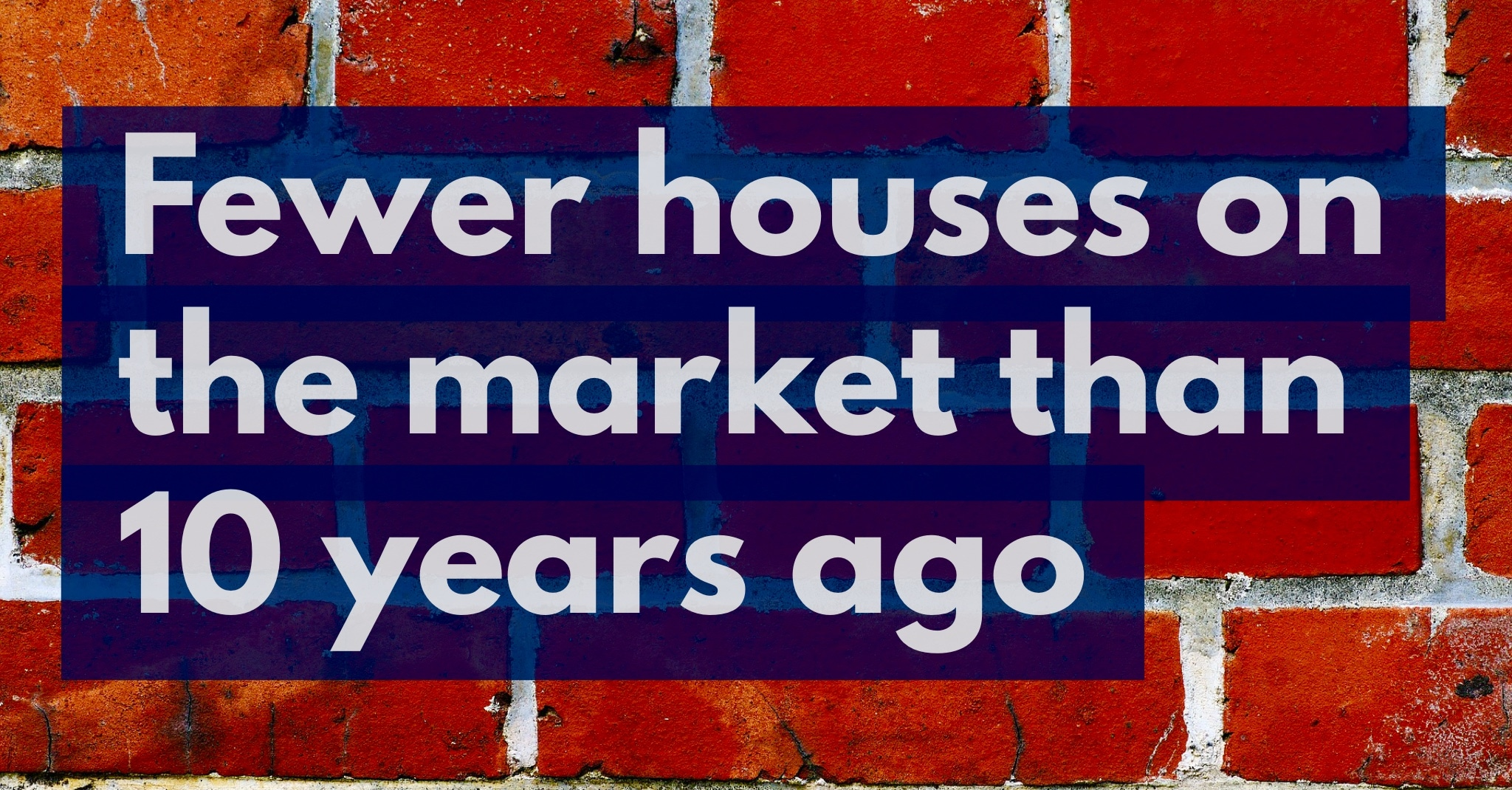 25% Drop in Properties For Sale Today in Canterbury Compared to 10 Years Ago