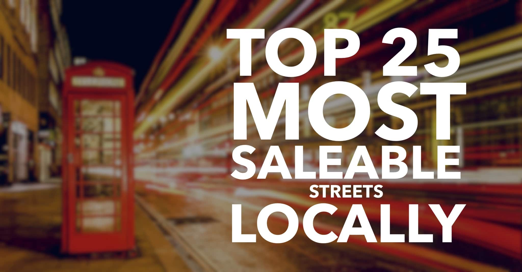 Top 25 Most Saleable Streets in Canterbury