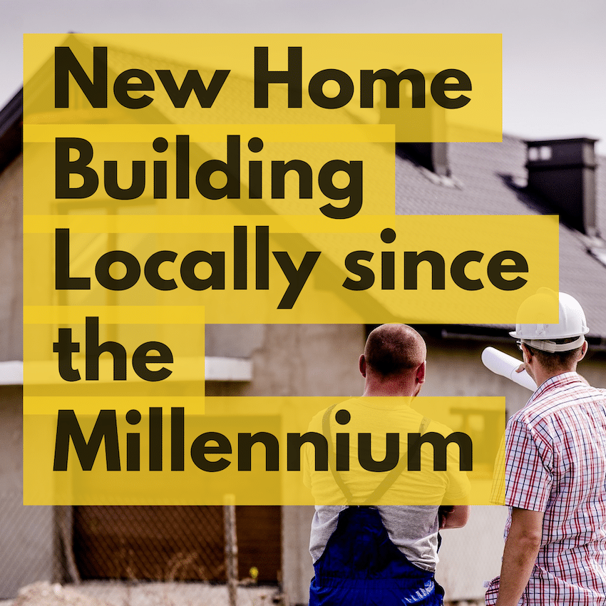 New Home Building in Canterbury 2018 rises to 95.5% above the post Millennium average
